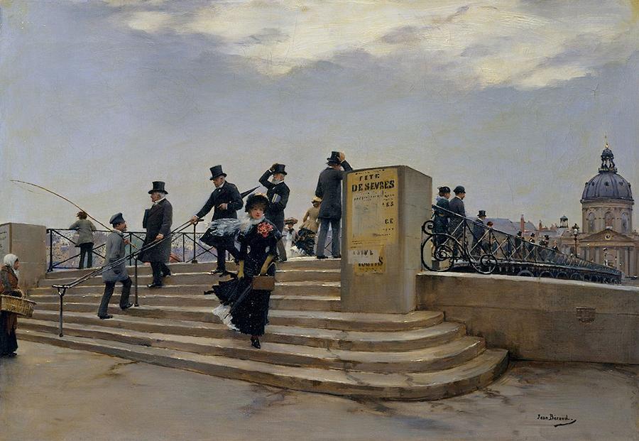 Béraud-Le-Pont-des-Arts-par-grand-ven